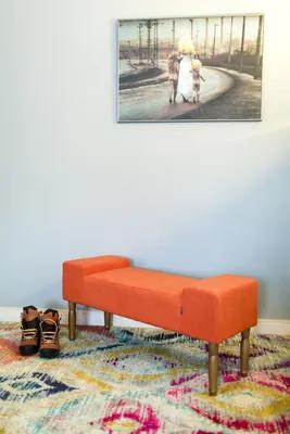 Bighome - Lavica LINE BRICK - oranžová
