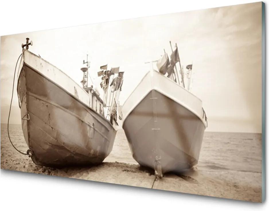 Obraz na akrylátovom skle Loďky Voda Príroda