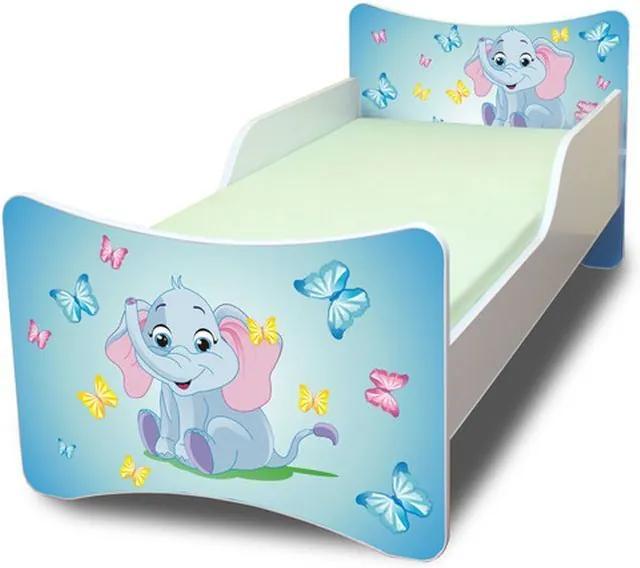 MAXMAX Detská posteľ 140x70 cm - sloník 140x70 pre všetkých NIE