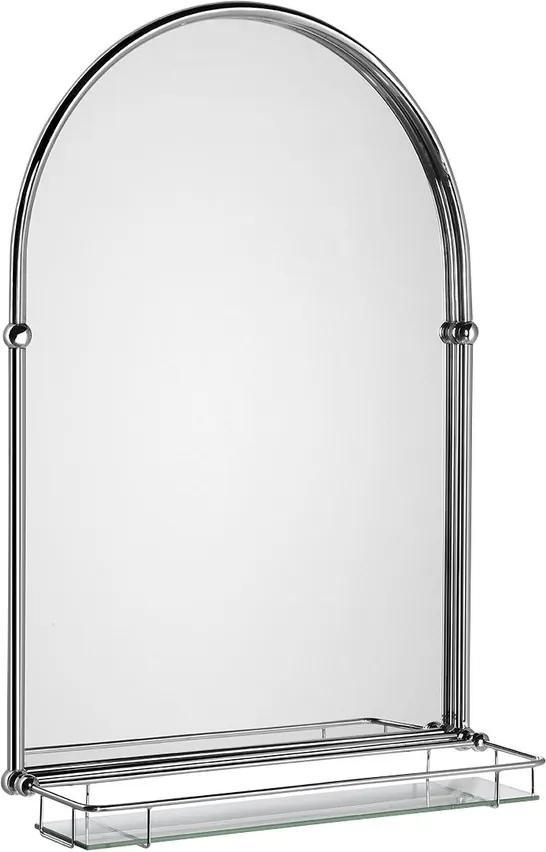 Tiga HZ202 zrkadlo 48x67cm, sklenená polička, chróm