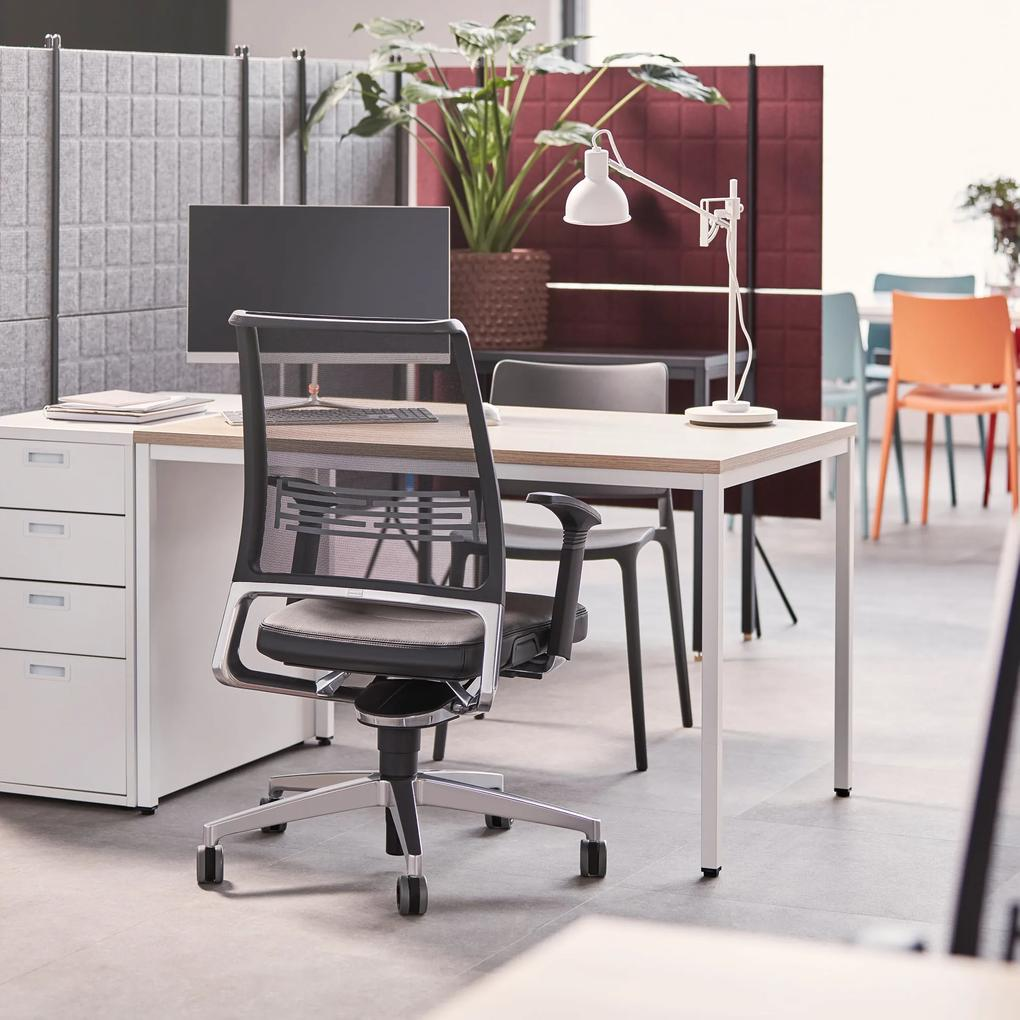 Kancelársky pracovný stôl Modulus, 1200x800 mm, dub/biela