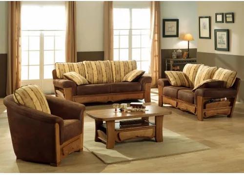 Rustikálna sedacia súprava Modane 3+2+1-Komfort-nábytok