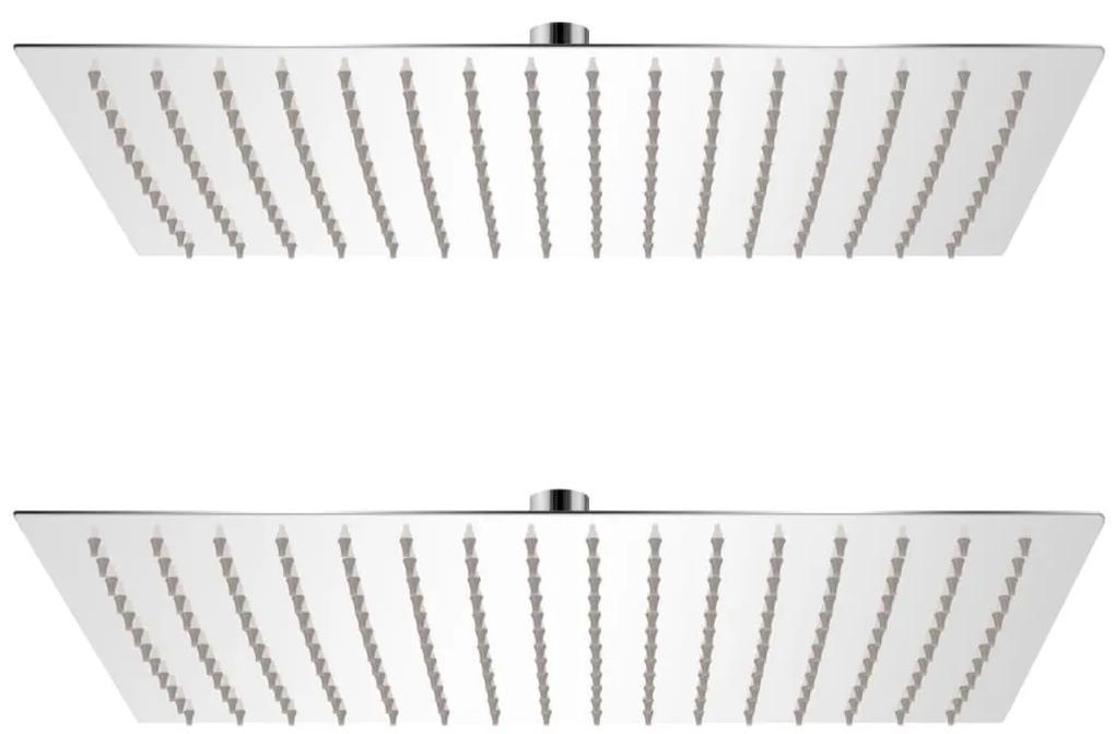 vidaXL Sprchová hlavica 2 ks nehrdzavejúca oceľ 30x40 cm