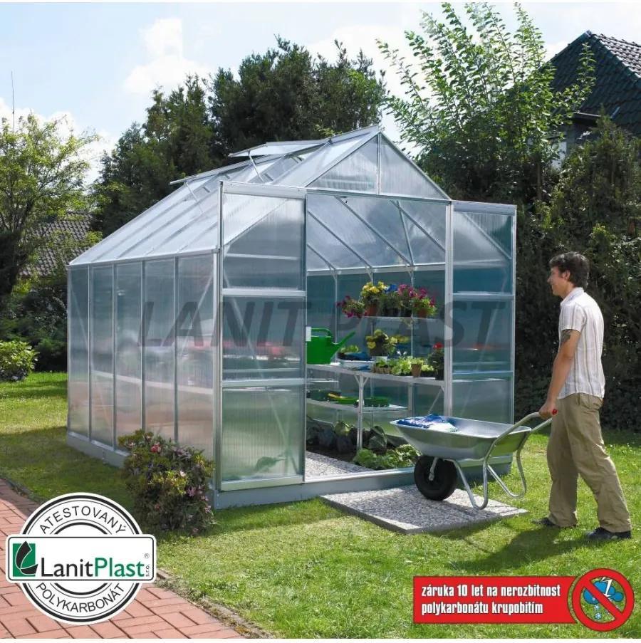Vitavia Garden - skleník VITAVIA URANUS 6700 PC 6 mm strieborný LG185