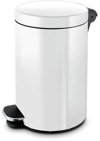 Kovové hygienické odpadkové koše Antiseptic, biele, Kapacita: 20 L, Materiál: Kov, Farba: Biela, O: 300 mm, Výška: 450 mm, Hmotnosť: 2.3 kg