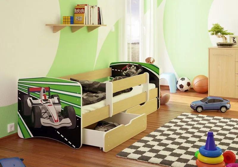 MAXMAX Detská posteľ formulovať OKRUH funny 180x90 cm - sa zásuvkou 180x90 pre chlapca ÁNO