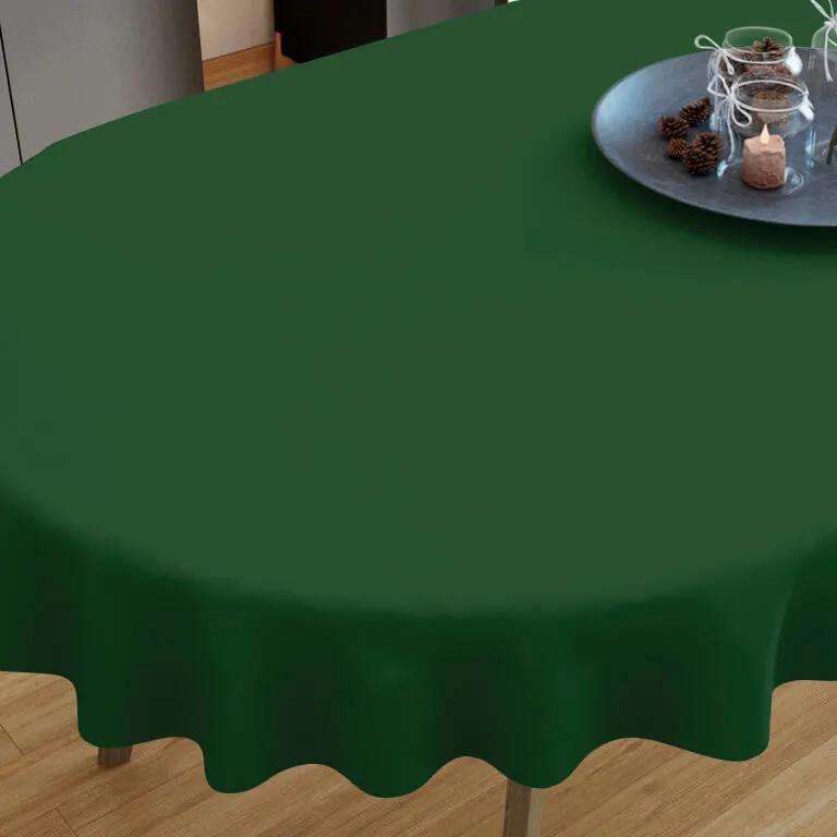 Goldea bavlnený obrus tmavo zelený - oválny 80 x 140 cm