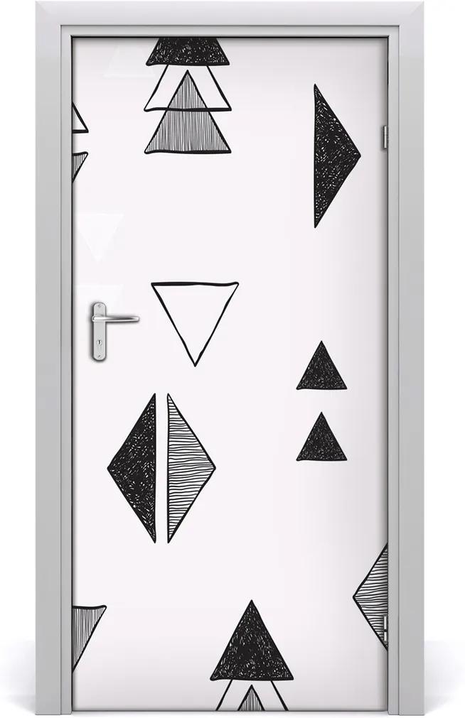 Fototapeta na dveře Trojúhelníky pozadí