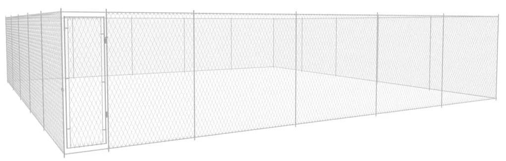 vidaXL Vonkajšia voliéra pre psy, pozinkovaná oceľ 950x950x185 cm