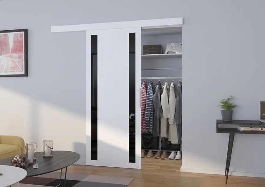 Posuvné dvere na stenu biele Game