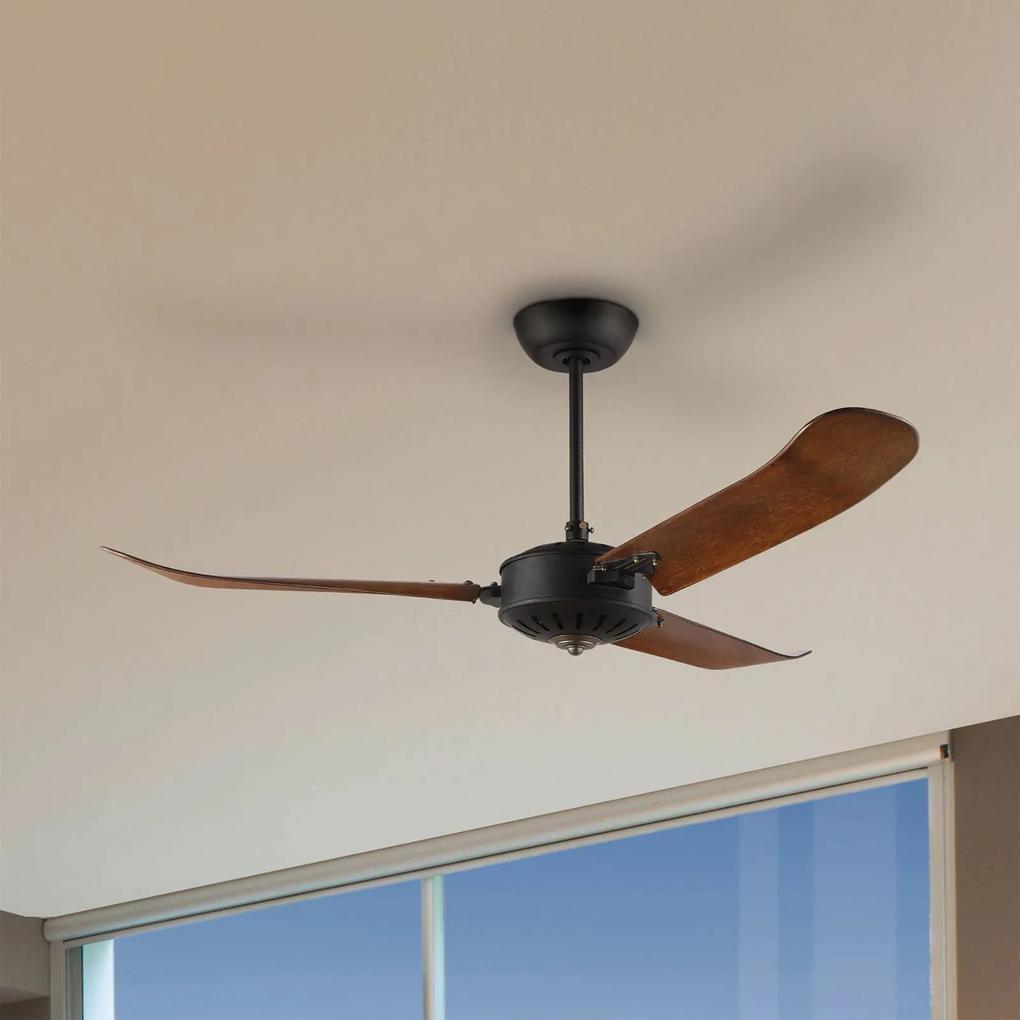 Stropný ventilátor Hoi An, dub tmavý