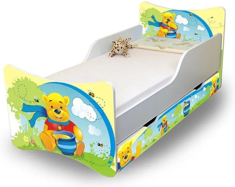 MAXMAX Detská posteľ so zásuvkou 160x90 cm - MACKO S MEDOM 160x90 pre všetkých ÁNO