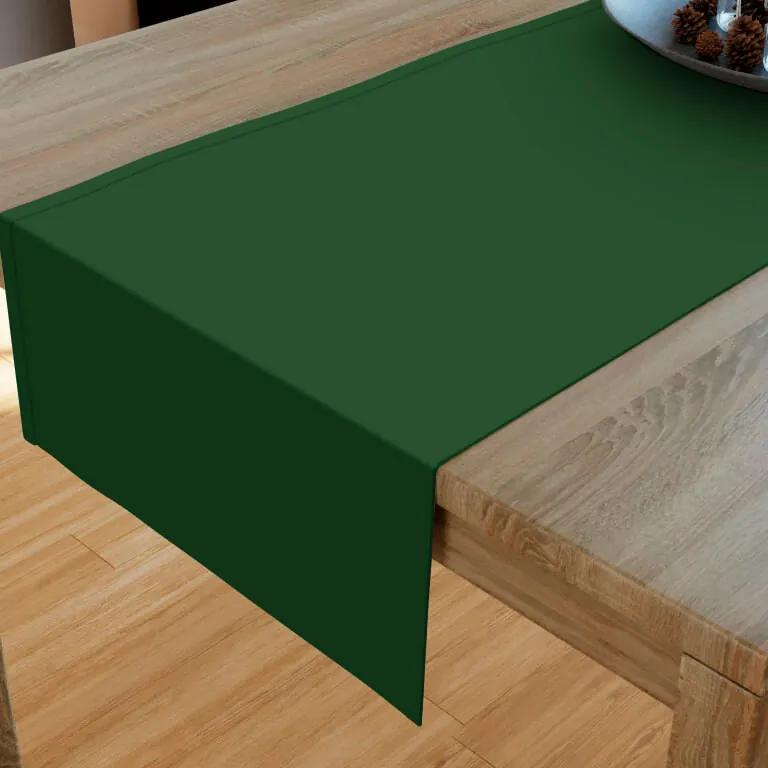 Goldea bavlnený behúň na stôl - tmavo zelený 20x160 cm