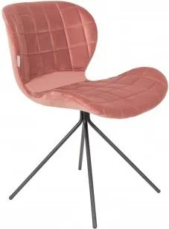 Židle OMG velvet, old pink Zuiver 1100364