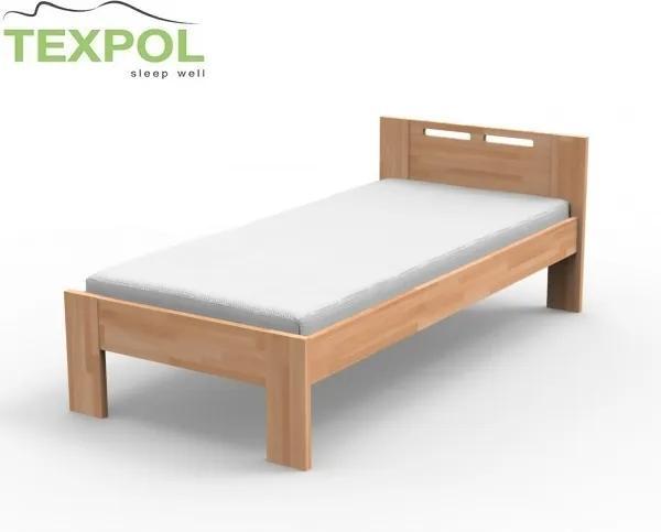 TEXPOL Masívna jednoposteľ NELA Veľkosť: 200 x 90 cm, Materiál: BUK morenie čerešňa