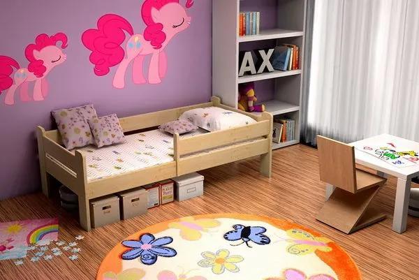 MAXMAX Detská posteľ z masívu 180x80cm bez šuplíku - DP012 180x80 NIE