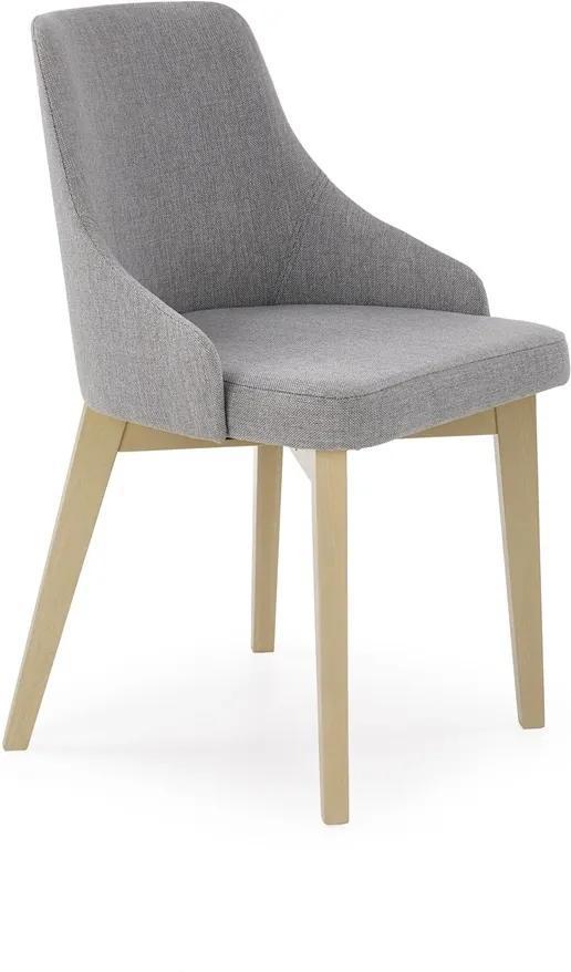 HALMAR Toledo jedálenská stolička dub sonoma / svetlosivá