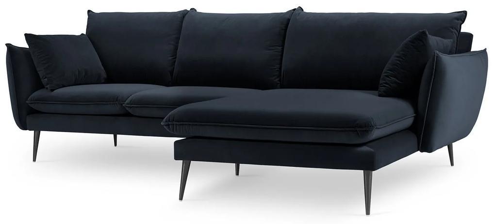 MILO CASA Zamatová štvormiestna rohová pohovka Elio pravý roh 251 × 170 × 97 cm
