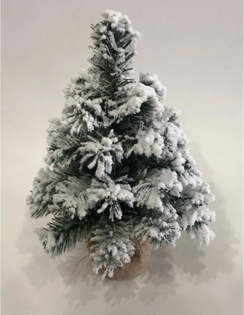 Zasnežený stromček v jute Tiga, 30 cm