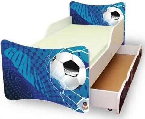 MAXMAX Detská posteľ 200x90 cm so zásuvkou - GÓL 200x90 pre chlapca ÁNO