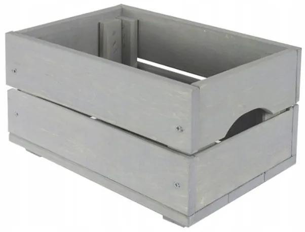 Drevená debnička SD-2-30X20 farebné varianty Povrchová úprava: Sivá