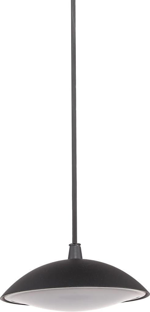 6694/BK-9 ITALUX Piombino moderné vonkajšie závesné svietidlo 12W=1110lm LED biele svetlo (3000K) IP44