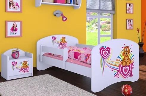 MAXMAX Detská posteľ bez šuplíku 160x80cm PSÍK A SRDIEČKO 160x80 pre dievča NIE