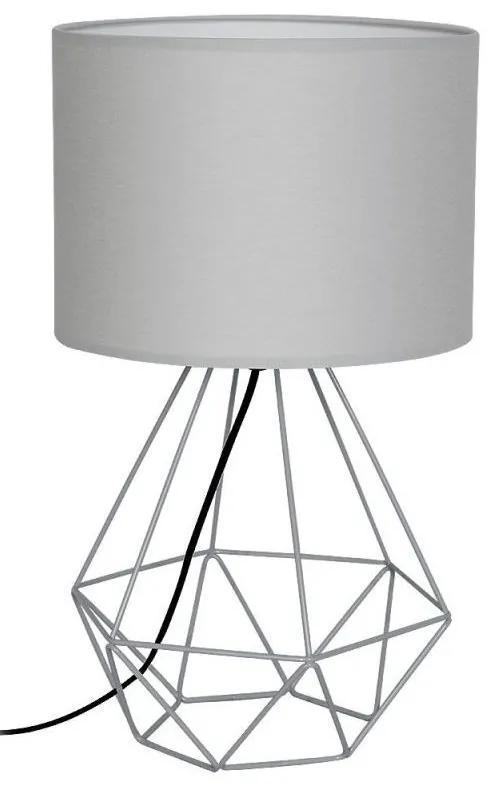 Decoland Stolná lampa BASKET 1xE27/60W/230V šedá DE7202