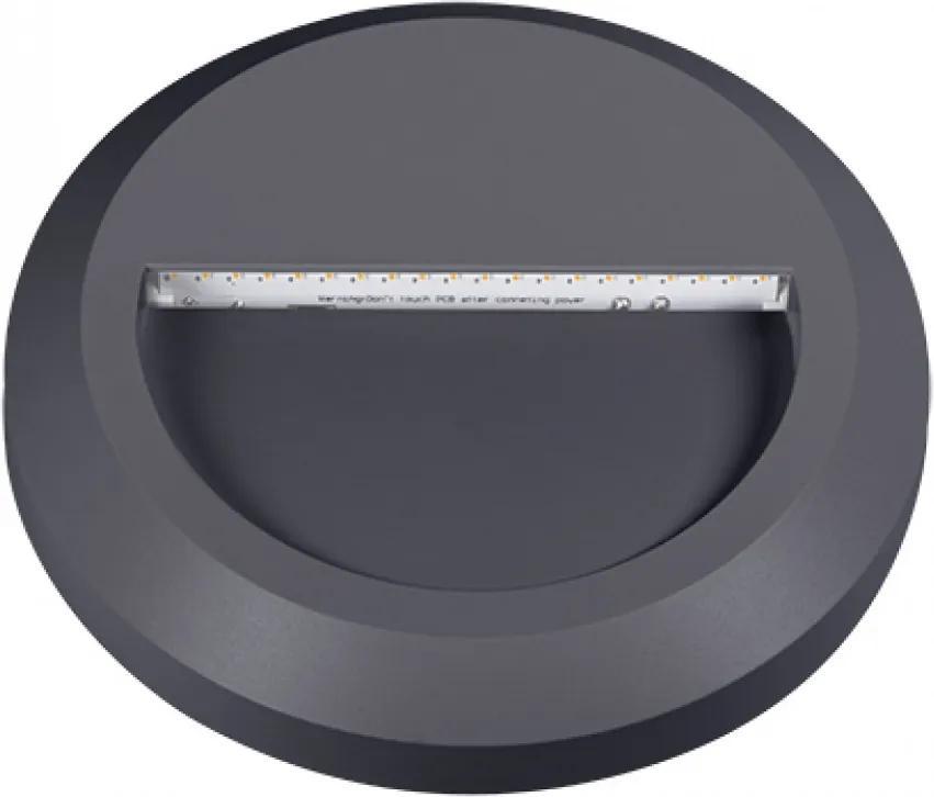 Kanlux Croto 22771 Zápustné Svietidlá do Steny sivý LED - 1 x 1,3W 2,8 x 15 x 15 cm