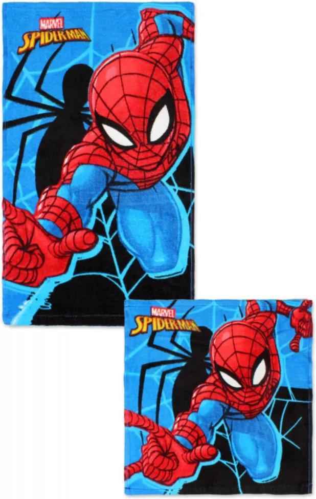 Súprava bavlnených uterákov Spiderman 01 30x50 a 30x30 cm 100% bavlna Setino