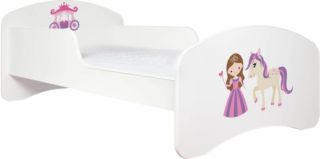 MAXMAX Detská posteľ bez šuplíku 160x80cm PRINCEZNA A KONÍK + matrace ZADARMO! 160x80 pre dievča NIE
