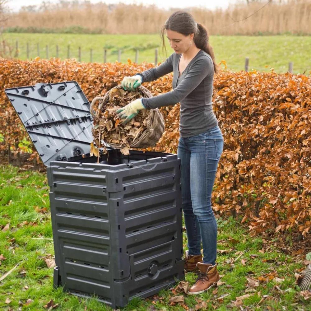 Záhradný kompostér 300l čierny Dekorhome