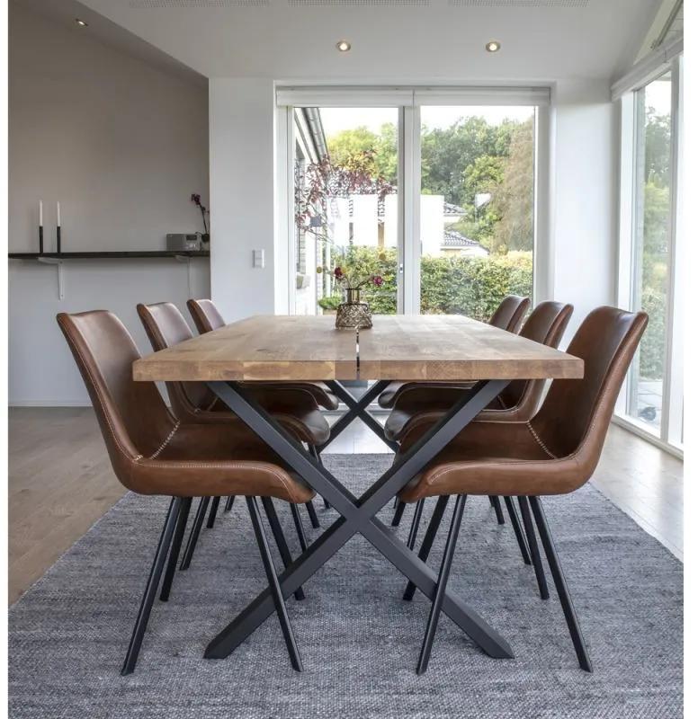Dizajnový jedálenský stôl Finnegan, svetlý dub