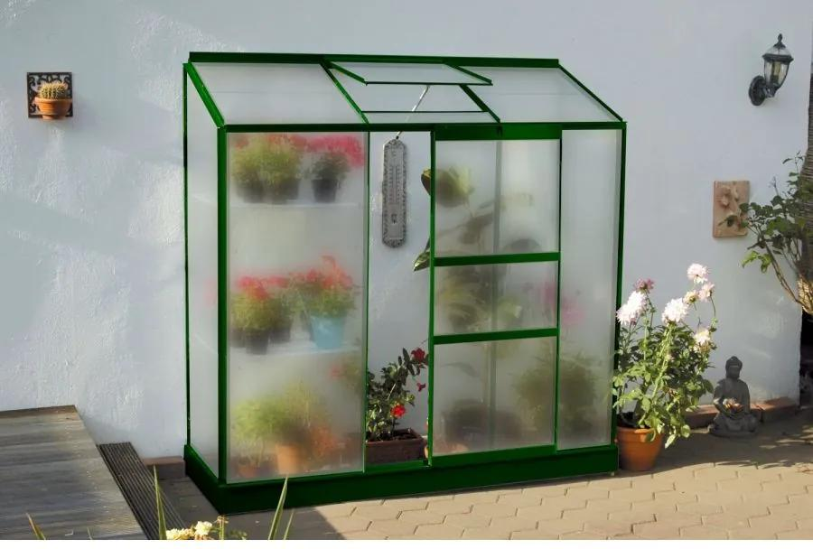 Vitavia Garden - skleník VITAVIA IDA 1300 matné sklo 4 mm zelený LG1532