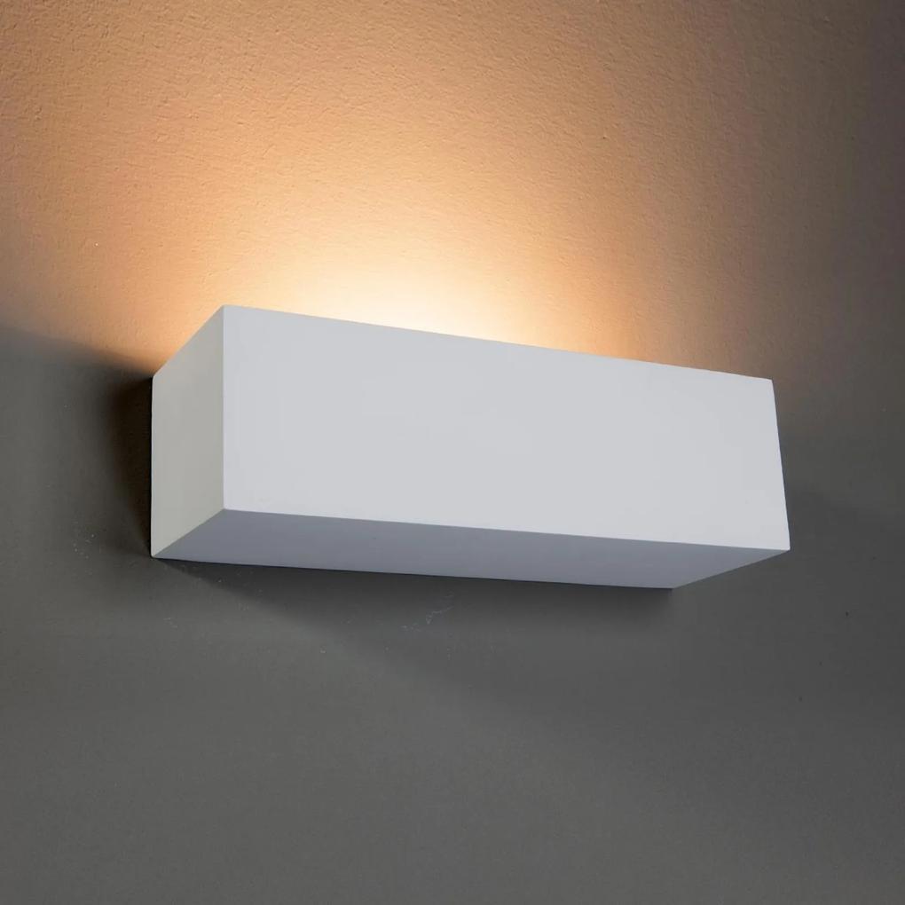 Obdĺžnikové nástenné svietidlo Lenny zo sadry
