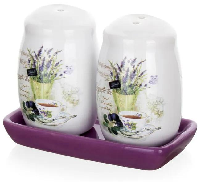 Soľnička a korenička Lavender, BANQUET