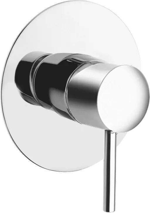 SAPHO RHAPSODY podomítková sprchová baterie, 1 výstup, kulatá destička chrom 5505X