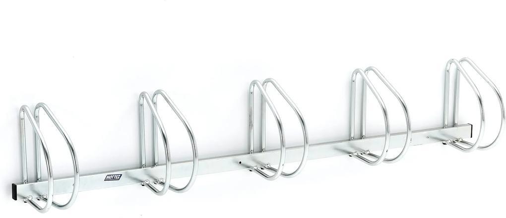 Nástenný stojan na bicykle, pre 5 bicyklov, 1840x280x320 mm