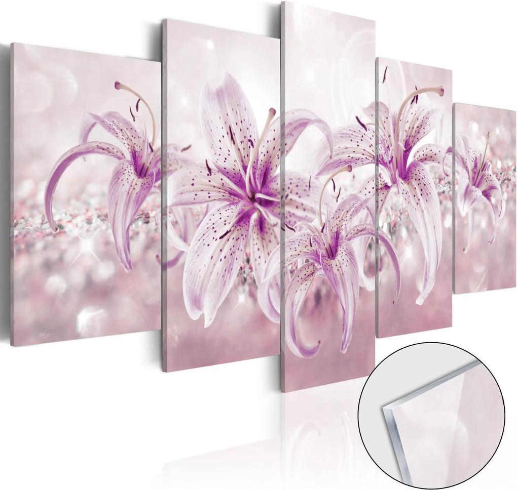 Obraz na akrylátovom skle - Purple Harmony [Glass] 100x50