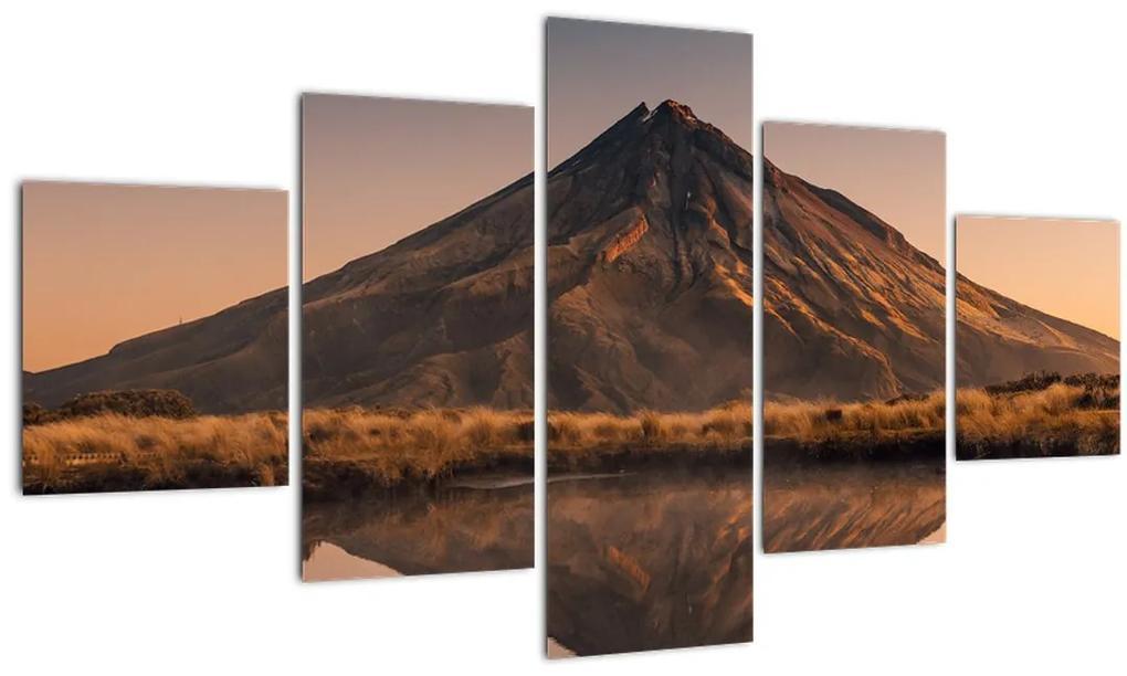 Obraz odrazu hory Taranaki, Nový Zéland (125x70 cm), 40 ďalších rozmerov