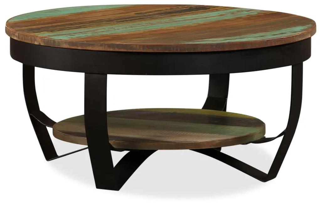 vidaXL Konferenčný stolík z recyklovaného dreva, 65x32 cm