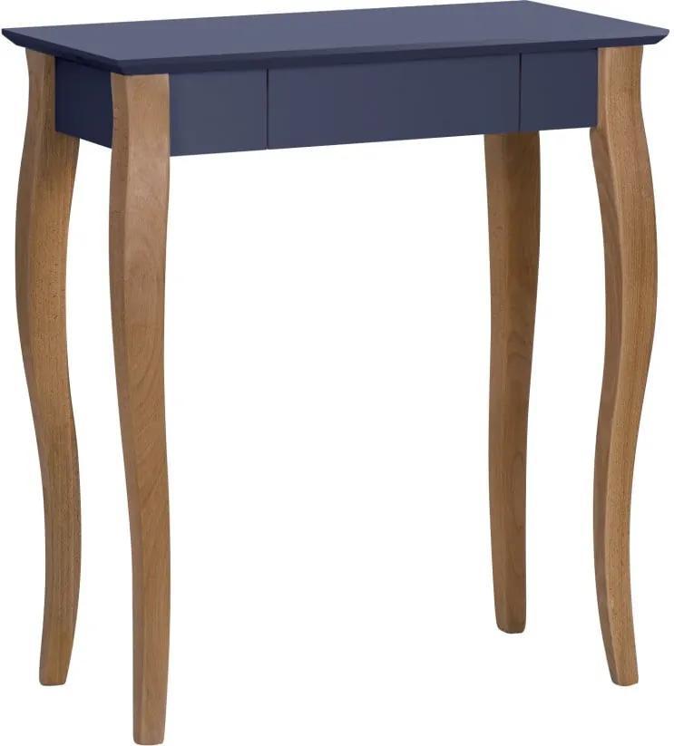 Grafitovosivý písací stôl Ragaba Lillo, dĺžka 65 cm