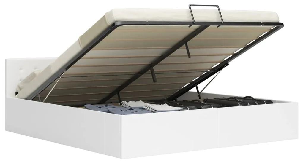 vidaXL Hydraulický posteľný rám+úložný priestor, umelá koža 160x200 cm