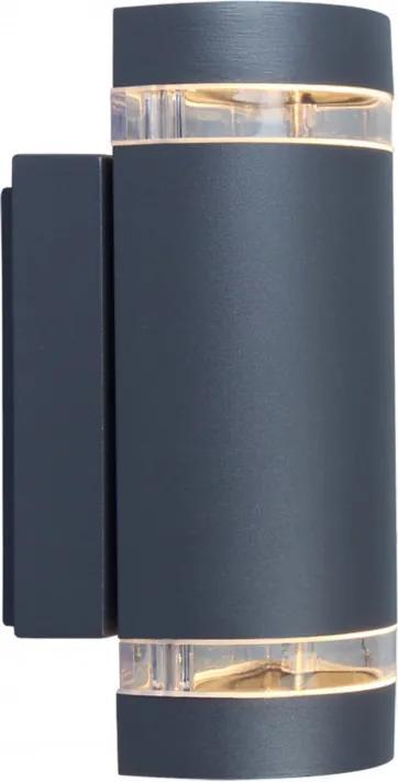 Lutec FOCUS 5604011118 Vonkajšie Nástenné Svietidlá tmavošedý priesvitný 11 x 10,9 x 23,5 cm