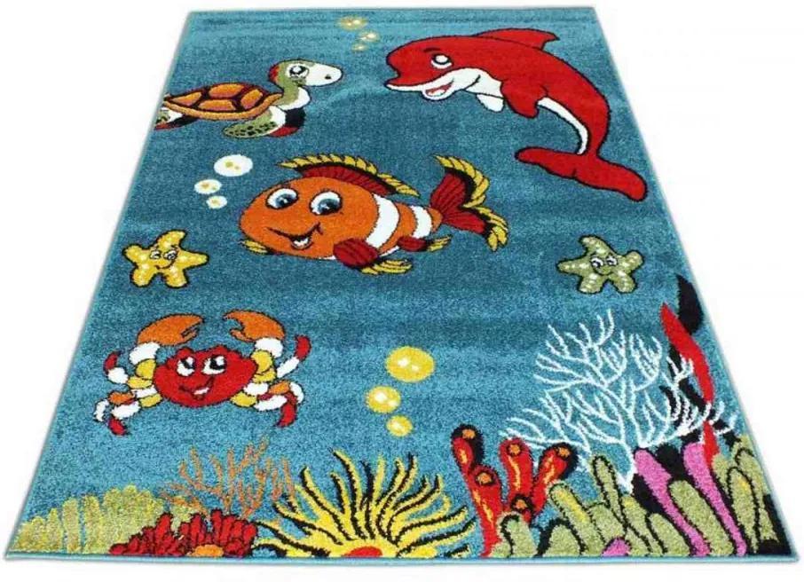 Detský koberec More modrý, Velikosti 300x400cm