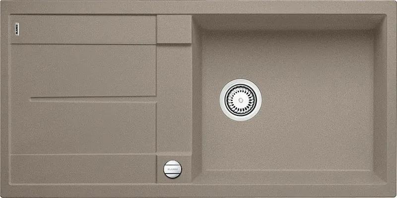 Granitový kuchynský drez - Blanco Metra XL 6 S tartufo + excentrické ovládanie
