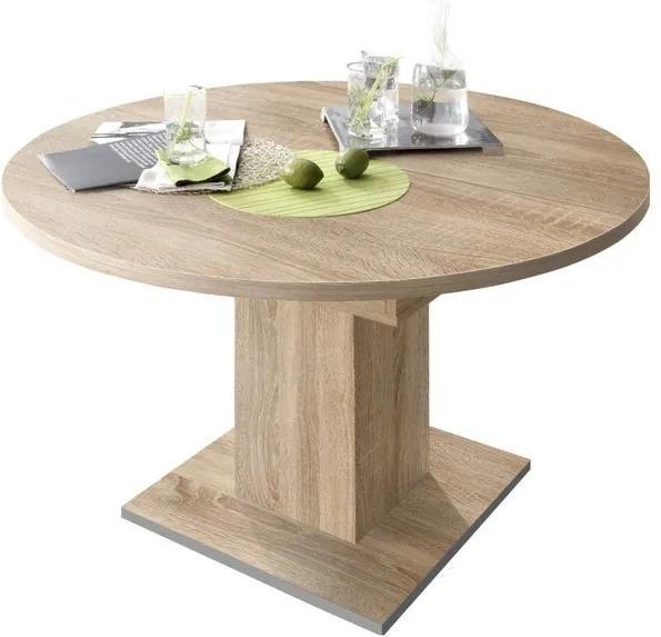 Sconto Jedálenský stôl RUND 120 1010 dub sägerau