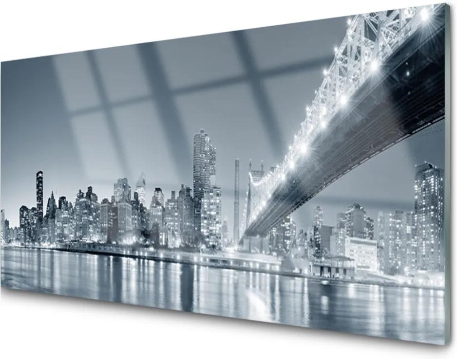 Akrylové obraz Město most architektura