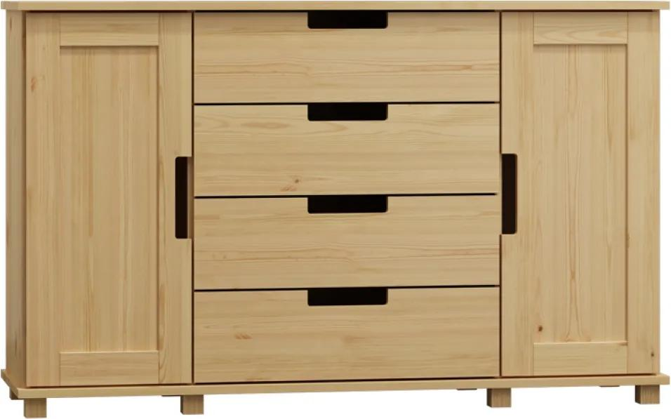 AMI nábytok Komoda Modern olše 140x80x47 cm