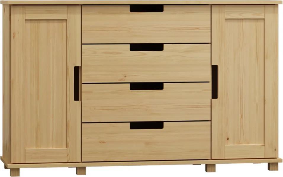 AMI nábytok Komoda Modern ořech 140x120x47 cm